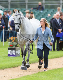 Elizabeth Power and SOLADOUN at the trot up, Land Rover Burghley Horse Trials 2018