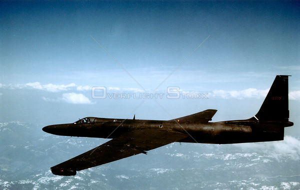 USA -- 1970s -- A U-2 spyplane in flight. This aircraft became an icon of the Cold War