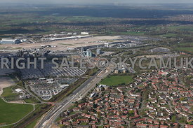 Ringway Road West, Aviator Way and land available for Development on the north side of Manchester International Airport
