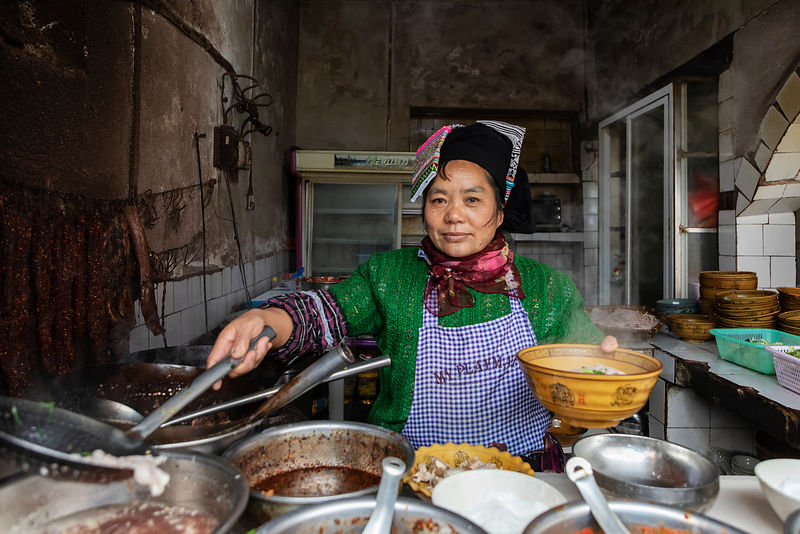 Hani Woman Prepares Lunch