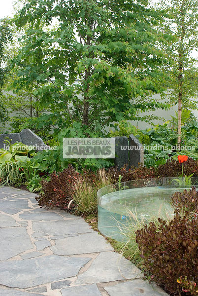 Contemporary garden, Pavement, Stone, Digital, Path, Stone path