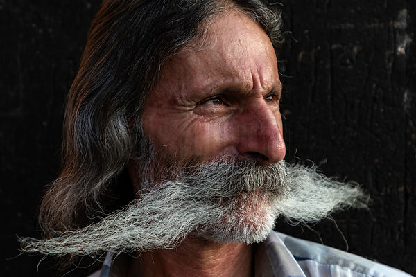 Portrait of a Man with a Huge Moustache