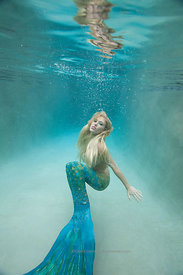Mermaid in pool, Richmond, Virginia