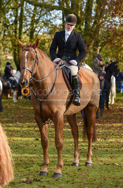 Louisa Fear at the meet - The Cottesmore at Somerby 5/11
