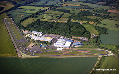 aerial photograph of the Lotus Car Factory in Hethel Norfolk England UK