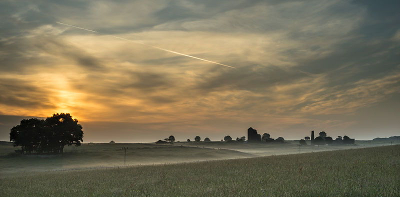Magpie mine in mist