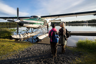 Boarding the Floatplane
