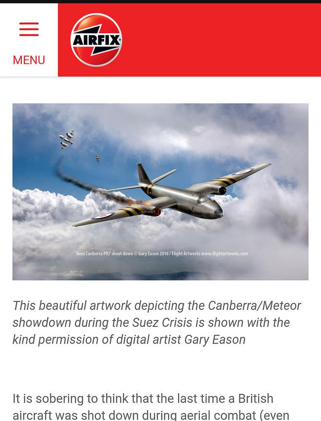 Airfix Workbench Canberra article