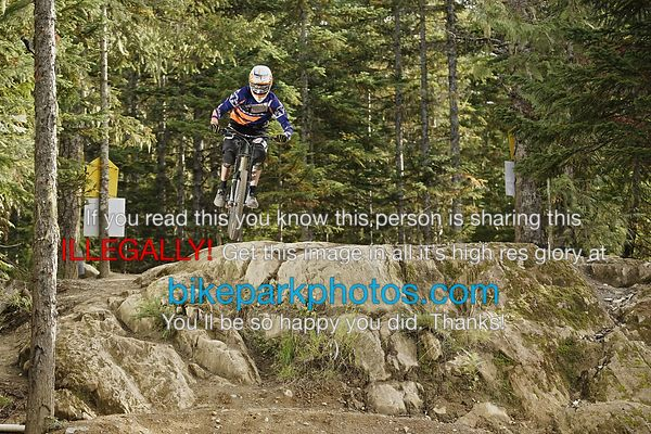 Thursday September 27th Aline Rock Drop bike park photos