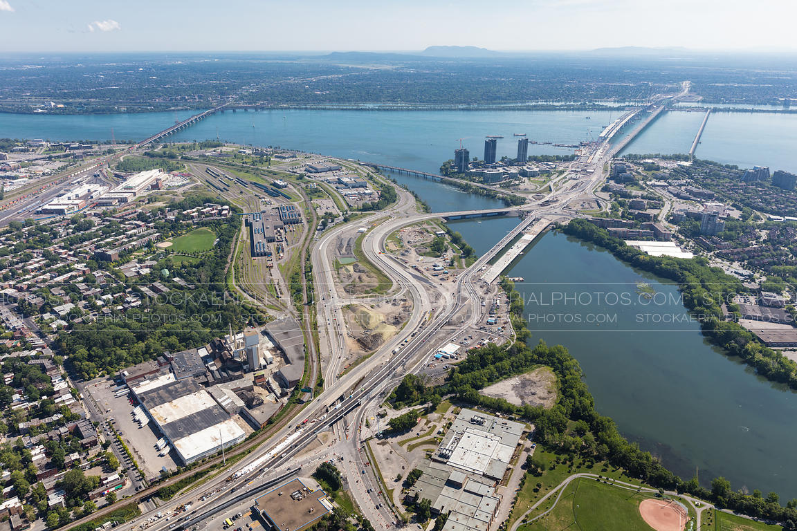 New Champlain Bridge Construction