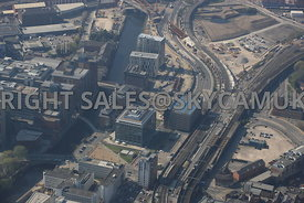 Salford Central and New Bailey Street Develoment area of Salford and Manchester