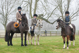Supporters of the Fernie Hunt near Illston on the Hill, Leicestershire.