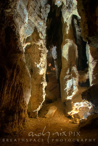 Sterkfontein Caves: Limestone formation inside the caves.