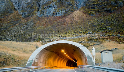 One of Norway's many mountain road tunnels