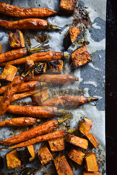 Roast Carrots and Pumpkin