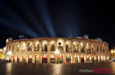Arena di Verona at night, Italy