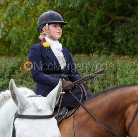 Abigail Shaw near Gartree Covert - Quorn Hunt Opening Meet 2016
