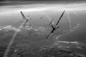 Battle of Britain duellists: Spitfire and Bf 109 BW version