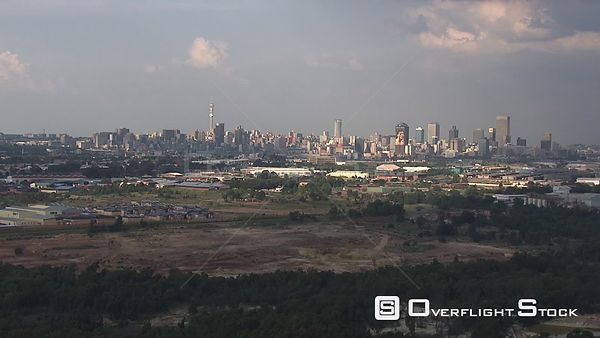 Citiscape of the skyline of Johannesburg. Johannesburg Gauteng South Africa