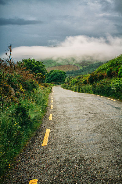 Down_the_road_Wicklow_moutains