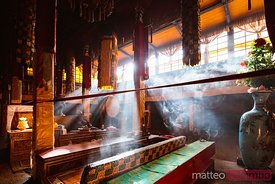 Interior of temple, Norbulingka palace, Lhasa, Tibet