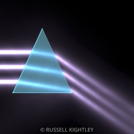 Prism refracting light rays