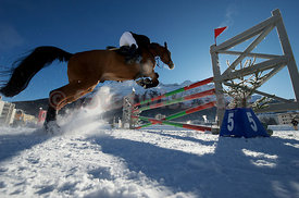 Horse Jumping, Concours Hippique on snow in St.Moritz