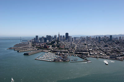 Aerial view of San Francisco Bay, USA, May 2006.