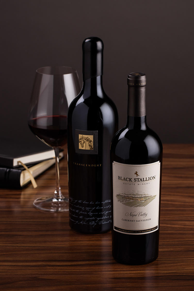 Elegant wine bottle shots by Jason Tinacci