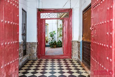 Entrance hall of an old house, Marbella, Andalusia, Spain