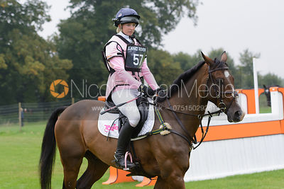 Georgie Spence and WII LIMBO - cross country phase,  Land Rover Burghley Horse Trials, 6th September 2014.