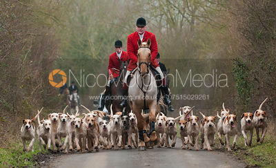The Cottesmore Hunt at Castle Bytham 21/1