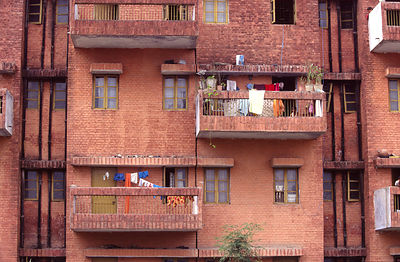 India - Chandigarh - Modernist appartments in a housing zone