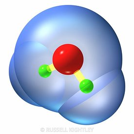 Water molecule, H2O ball and stick #4