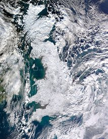 EARTH United Kingdom -- 07 Jan 2010 -- This handout NASA satellite image shows the United Kingdom of Great Britain and Northe...