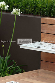 Bench, Garden furniture, Perennial, Resting area, Contemporary Terrace, Wooden Terrace, Digital