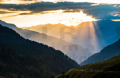 Sunset in French Alps