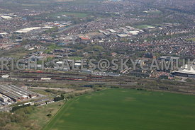 Warrington aerial photograph looking towards Centre Park Warrington