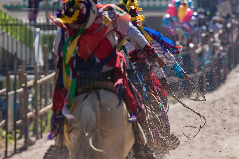 Riders in the Annual Day of the Dead Horse Race at Todos Santos Cuchumatán