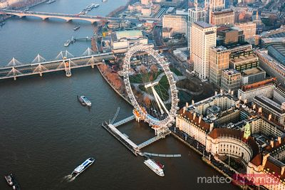 Aerial view of the London Eye, London, United Kingdom
