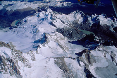 Aerial view of Lago Argentino mountain range, Argentina, 2000