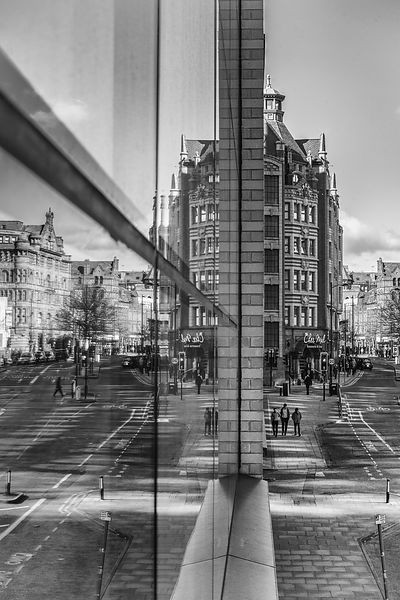 Manchester monochrome fine art | Reflections of Manchester (B&W)