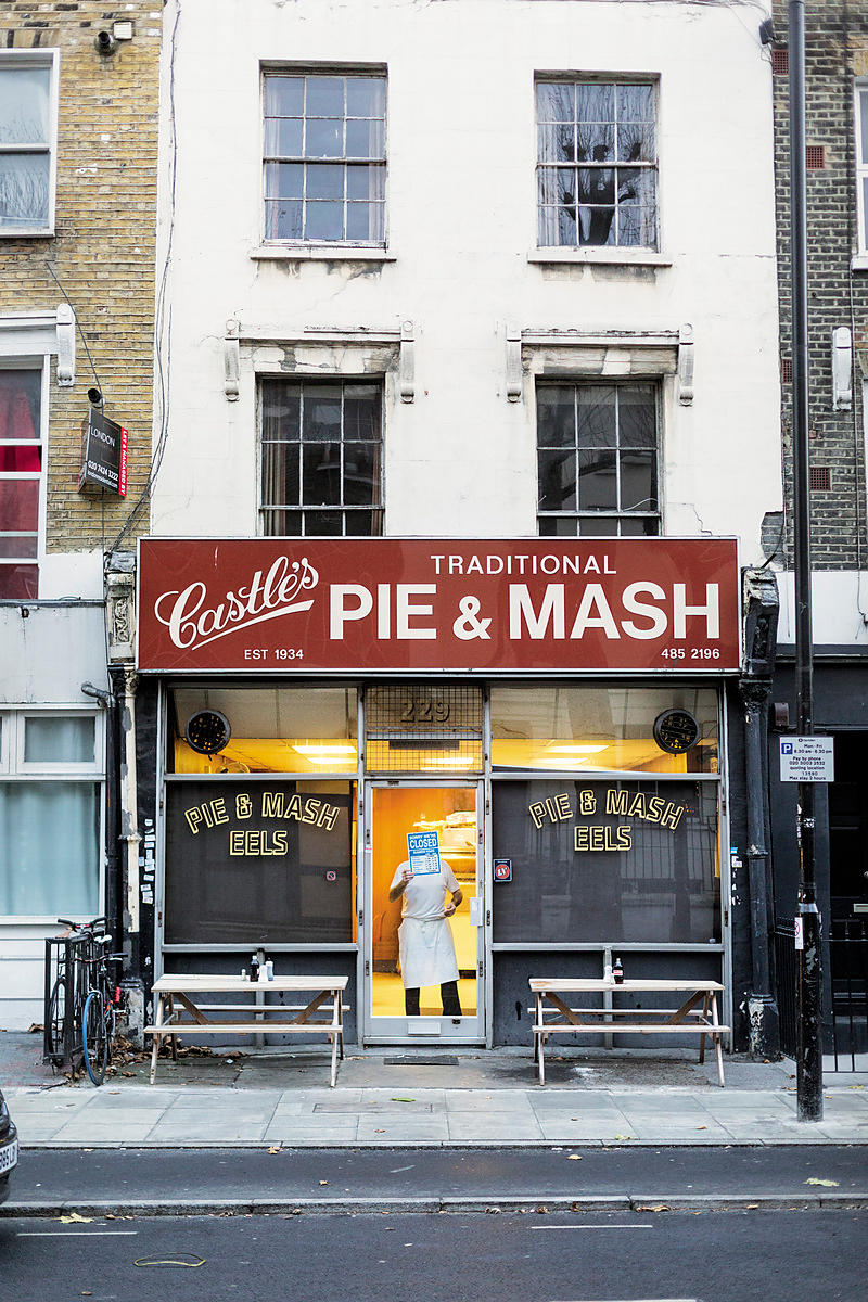 Closing at Castles Pie and Mash shop, London