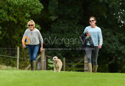 Emma Newton, Willa Newton walking the course at  Land Rover Burghley Horse Trials 2018
