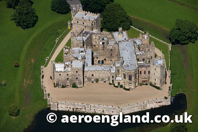 aerial photograph of Raby Castle County Durham, England UK