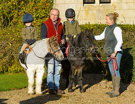 Frances Moulaert, Michael Elson at the meet at Ingarsby Hall 27/10