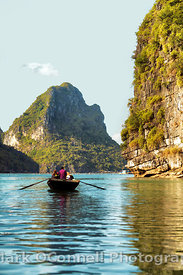 Rowing through Halong Bay Vietnam 4