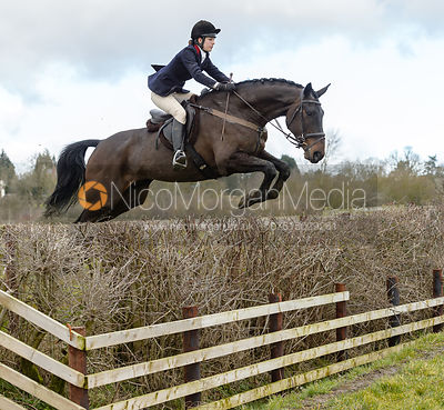Ida Thore jumping a fence at Burrough House