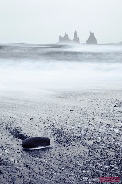 Rock pillars in the sea Vik Iceland