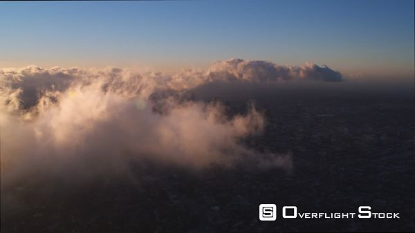 Thin Clouds Drifting Over Los Angeles.